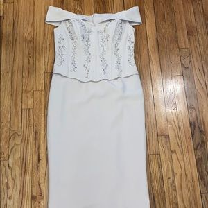 David's Bridal Champagne Mother of the Bride Dress